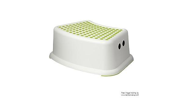 Ikea forsiktig sgabello per bambini colore bianco verde