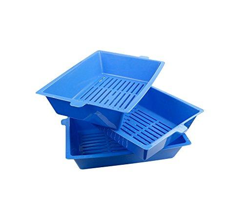 MEDIA WAVE store Lettiera con sistema autopulente a 180° a tre vaschette da 42 cm con bordi