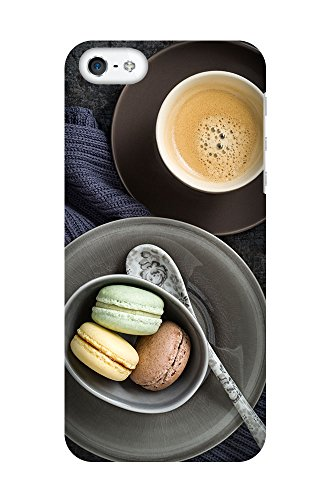 iPhone 4/4S Coque photo - Café et Macarons