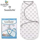 SwaddleMe ** Original Swaddle Größe S für 0-3 Monate ** Pucksack/Schlafsack für unruhige Babys und Schreibabys (Sternchen)