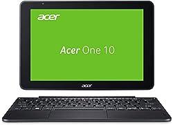 Acer One 10 S1003-1298 25,65 cm (10,1 Zoll HD, IPS, Multi-Touch) Convertible Laptop (Intel Atom x5-Z8350, 2GB RAM, 32GB eMMC, Win 10) schwarz (QWERTZ Deutsch Layout)