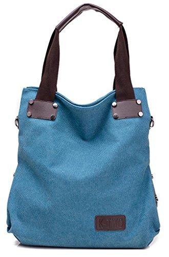 Inizio Di Buon Auspicio Nuovo Stile Semplice Tote Bag Tempo Libero Preppy Stile Spalla Blu Borsa A Tracolla Blu