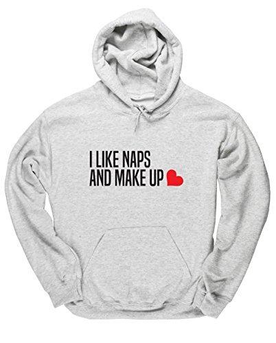 hippowarehouse-i-like-naps-and-make-up-unisex-hoodie-hooded-top