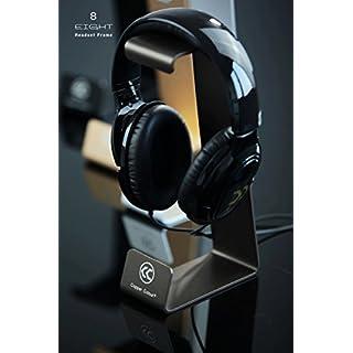 Audio123 S8 Aluminiumlegierung Headset Kopfhörerständer Halter für AKG Sennheiser Sony Grado alle Größe Kopfhörer BLACK