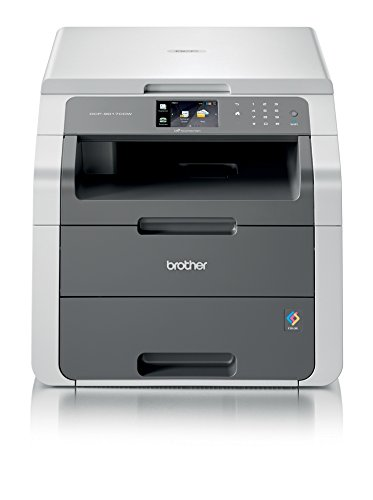 Brother DCP-9017CDW Kompaktes 3-in-1 Farb-Multifunktionsgerät (Drucken, scannen, kopieren, A4, 18 Seiten/Min., 2.400x600 dpi, LAN, WLAN, Duplexdruck, Print AirBag für 150.000 Seiten)