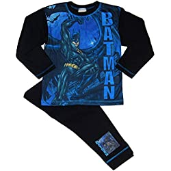 Batman,DC Comics,Superman - Pijama Dos Piezas - para niño Azul Blue/Black/Multicoloured 7-8 Años