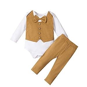Greenwind Recién Nacido Traje Recién Nacido, bebés, niños, Pajarita, Mameluco, Camisas, Tops + Pantalones, Trajes de Caballero 7