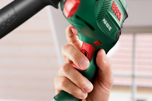 Bosch DIY Schlagbohrmaschine PSB 650 RE, Tiefenanschlag, Zusatzhandgriff, Koffer (650 W, max. Bohr-Ø: Holz: 30 mm, Beton: 14 mm) - 2