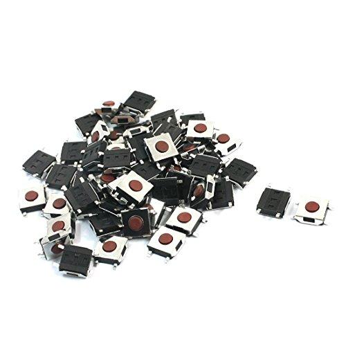 sourcing map 55 Stücke Momentan Takt Druckknopf Mikro Schalter 6mmx6mmx2.5mm 4-pin de DE de -