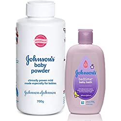 Johnson's Baby Powder (700g) with Free Johnson's Bedtime Bath (200 ml)