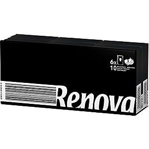 Renova Taschentücher schwarze Kompakt–6Päckchen