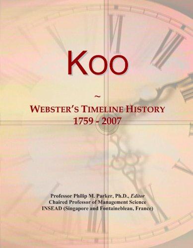 Koo: Webster's Timeline History, 1759 - 2007