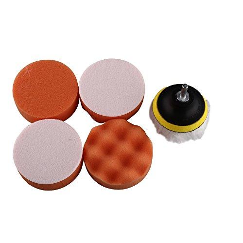 Anyutai 3 Zoll Auto Schaum Bohrer Polieren Waxing Pad Polierscheiben Set,6er Pack