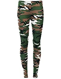 New Women's Camouflage Army Print Leggings, Vest Top 8-22