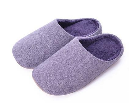 Indoor pantofole mute, in autunno e inverno, uomini e donne a casa casa pantofole di cotone morbido fondo , men blue female purple