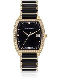 Chrono Diamond 82062_schwarz-32 mm - Reloj para mujeres, correa de metal color negro