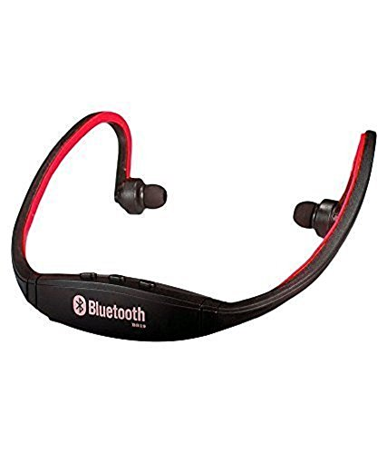 JIYANSHI stylish sports wireless bluetooth red BS19 Compatible with Lava iris 349S  available at amazon for Rs.599