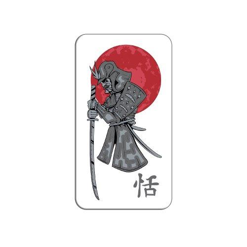 Samurai und Red Moon–Japanische Asiatische Sword Metall Revers Hat Shirt Handtasche Pin Krawattennadel ()