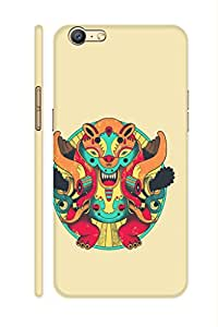 AMAN Graphically Design Doll 3D Back Cover for Oppo A57