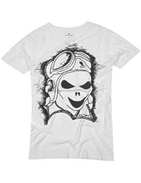 NO NAME Hommes T-Shirt Blanc NNHT055-Weiß