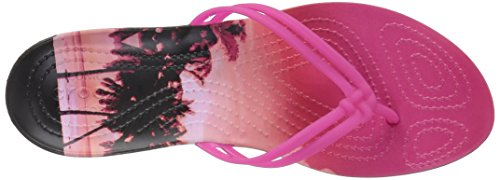 Crocs - Isabella Graphic, Sandali infradito Donna Rosa (Candy/Pink/Tropical)
