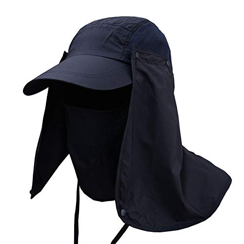Huichao 5-Couleur Chapeau extérieur, Trois méthodes d'usure, Chapeau de Soleil,Blue