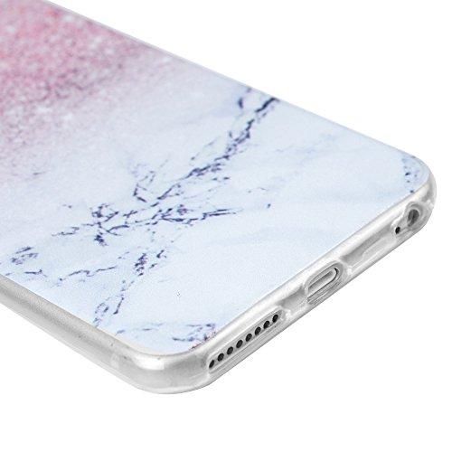 Coque iPhone 6 Plus 6S Plus, Badalink Case Cover Housse Bumper de Protection TPU Silicone Gel Souple Flexible Ultra Mince Slim Léger Anti Rayure Antichoc Motif Attrape Rêves Marbre