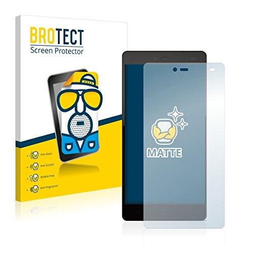 2X BROTECT Matt Bildschirmschutz Schutzfolie für Yezz Andy 5.5T LTE VR (matt - entspiegelt, Kratzfest, schmutzabweisend)