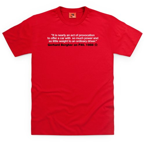 PistonHeads Gerhard Bergher T-Shirt, Herren Rot