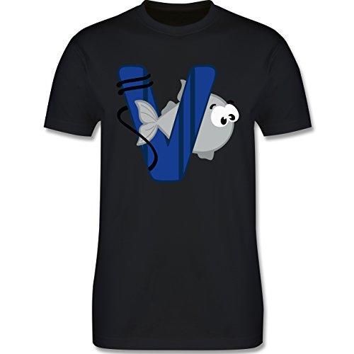 Anfangsbuchstaben - V Schifffahrt - Herren Premium T-Shirt Schwarz