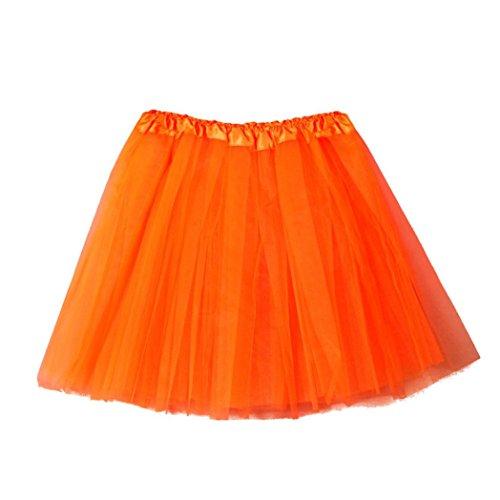 Fuibo [Damen Röcke Womens hochwertige Plissee Gaze kurzen Rock Erwachsenen Tutu Tanzen Rock ()