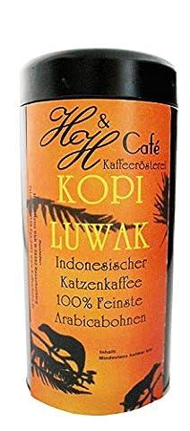 Katzenkaffee Kopi Luwak Arabica ganze Bohne - Katzen Kaffee das Original 50 Gramm in der Dose (von freilebenden