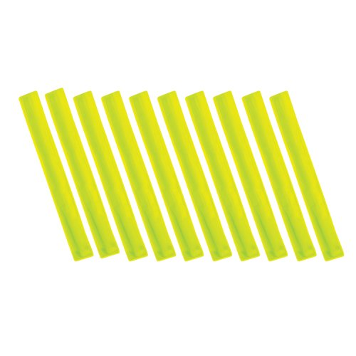 set-of-10-high-visibility-reflective-slap-ankle-wrist-bands-in-yellow-fluorescent-yellow