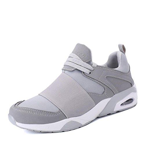 Hommes Chaussures de sport Respirant Mode Entraînement Chaussures de course élasticité Formateurs Grey