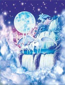 S3536mgl Pegasus Cascade (Robin Koni () Fine Art mural nostalgique rétro Funny plaque murale en métal de la publicité
