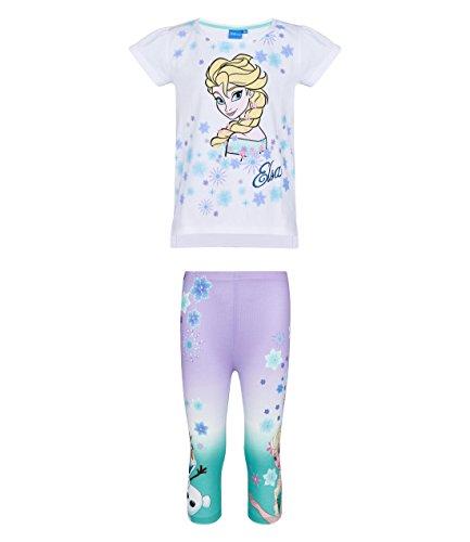 wei/ß Disney Die Eisk/önigin Elsa /& Anna M/ädchen T-Shirt und Shorts 2016 Kollektion