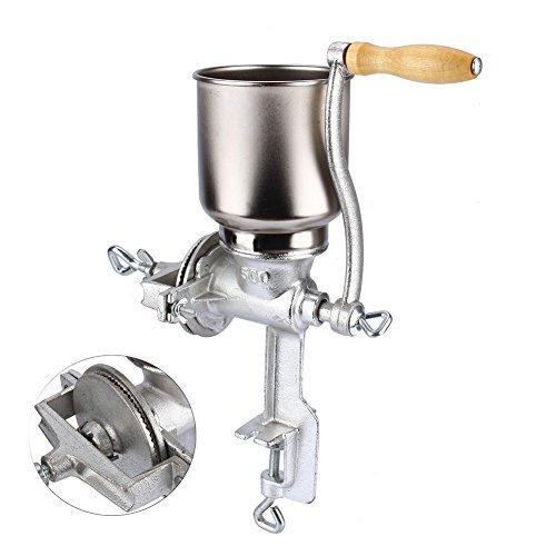 Cocoarm Molino de Grano de café, Amoladora de Cocina Ajustable de Mano Molino de harina Molino de máquina de Equipo para Trigo de maíz Avena