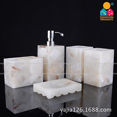 QUEEN'S Marmo Bianco Marmo Kit da bagno