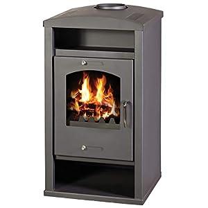 Estufa de leña, quemador de troncos moderno, estufa de leña, flauta superior, 11,5 kW