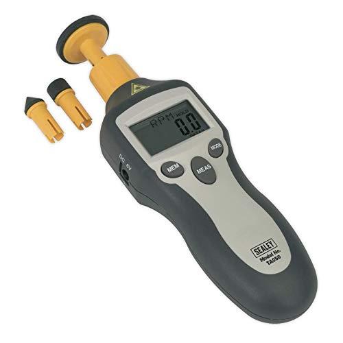 Sealey TA050 Digital Tachometer - Contact/Non-Contact