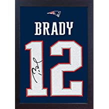 a6fb22887f SGH SERVICES New Tom Brady New England Patriots NFL - autógrafo con Marco de  fútbol (