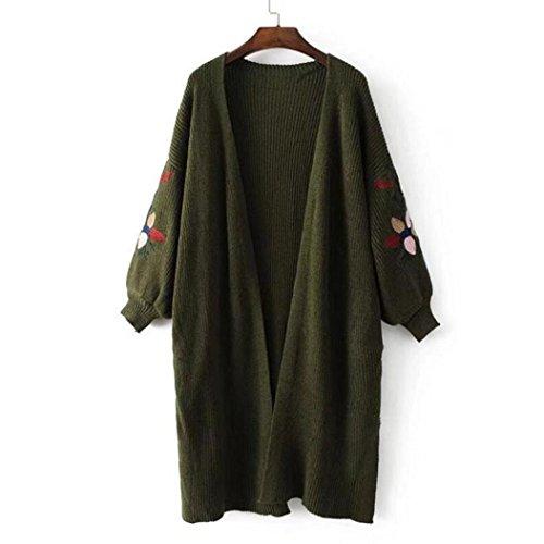 Cardigan, Malloom Femmes Manche longue Énorme En vrac Tricoté Sweat-Cardigan Manteau Outwear Vert