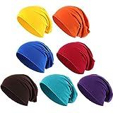 Outus Cappello a Cuffia Cotone Cappellino Slouchy Cotone Cappello da Dormire Cappello con Teschio Nano per Adulti e Bambini Accessori di Costume Halloween (Colori Set A, 4)
