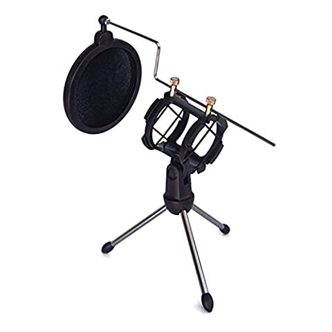 Microphone Tripod Stand Foldable Microphone Desktop Stand