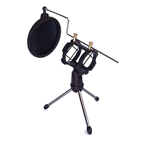 microphone-tripod-stand-foldable-microphone-desktop-stand-holder-bracket-with-shock-mount-mic-holder