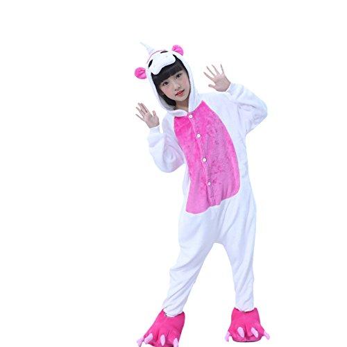 Chicolife Kind - Mädchen - Jungen - Einhorn - Kostümtier Onesie Pyjamas Nachtwäsche Cosplay (Kostüm Hop Hip Jungen)