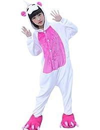 Chicolife niños chica chico arco iris Unicorn Pegasus traje Animal mono pijamas ropa de dormir Cosplay