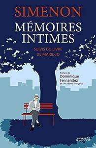 Mémoires intimes par Georges Simenon