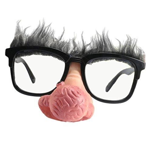 Unbekannt Neuheit Große Nase Alter Mann Sonnenbrille Lustige Kostümfest Foto