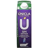 Únicla Leche UHT Semidesnatada sin Lactosa - Paquete de 6 x 1000 ml - Total: